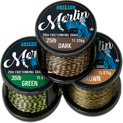 KRYSTON Merlin GREEN 25lb KRYSTON Merlin DARK 15lb